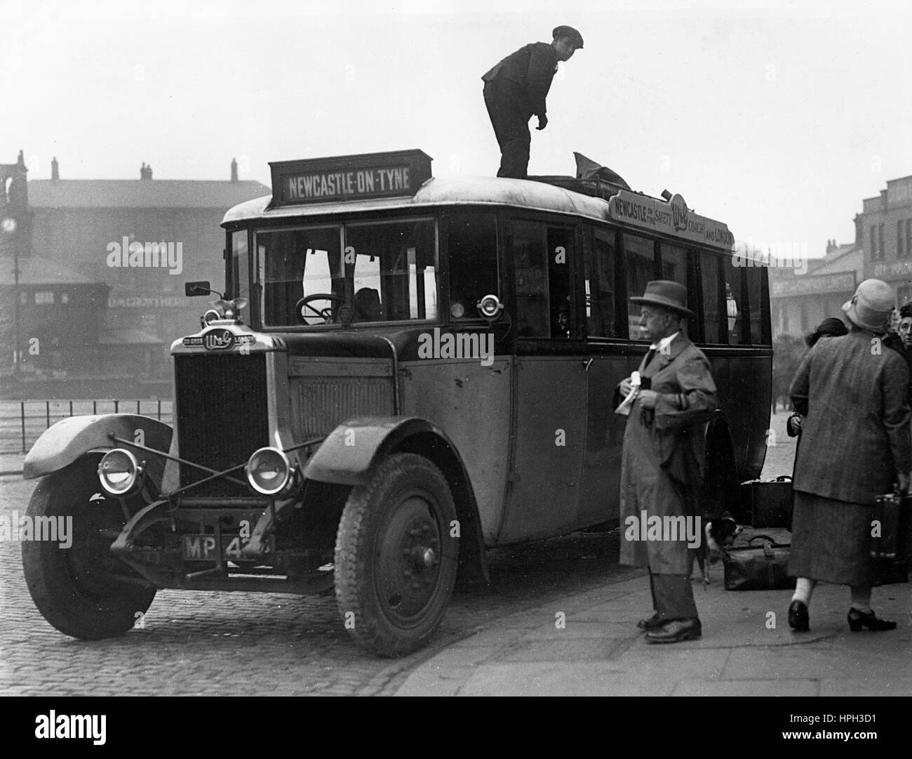 1929 W&G coach in Newcastle Upon Tyne - Stock Image