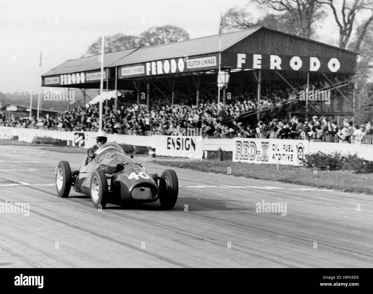 1954 Connaught, Ken McAlpine at Goodwood - Stock Image