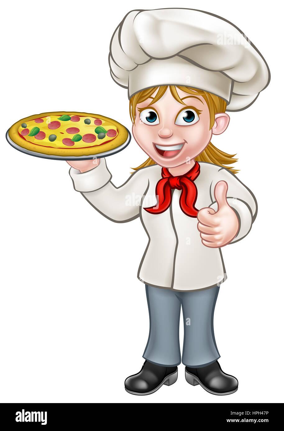Kid boy mom making pizza together. Illustration of a boy with his mom while making  pizza together.
