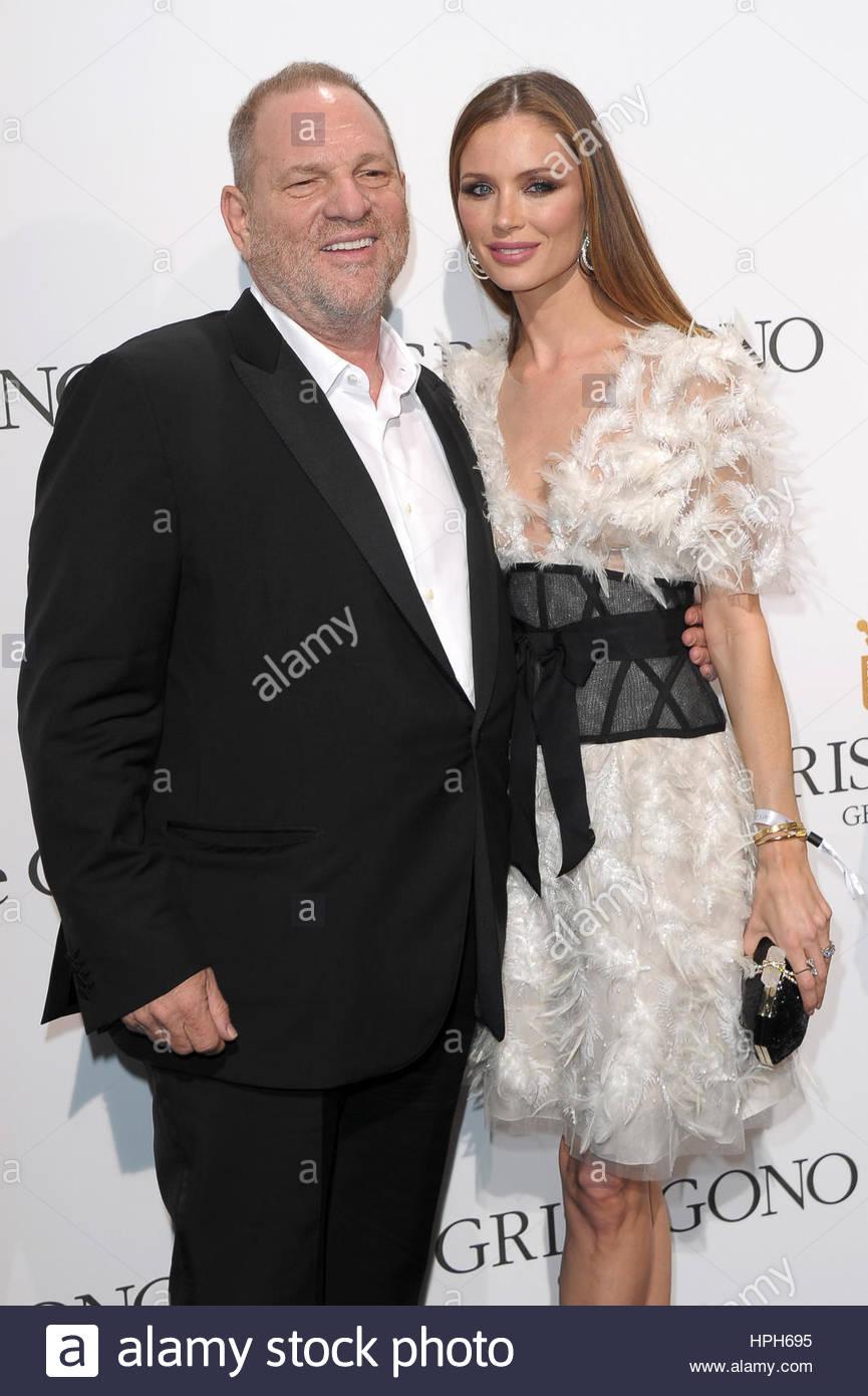 Georgina Chapman,Harvey Weinstein milano 20-05-2016 Stock Photo