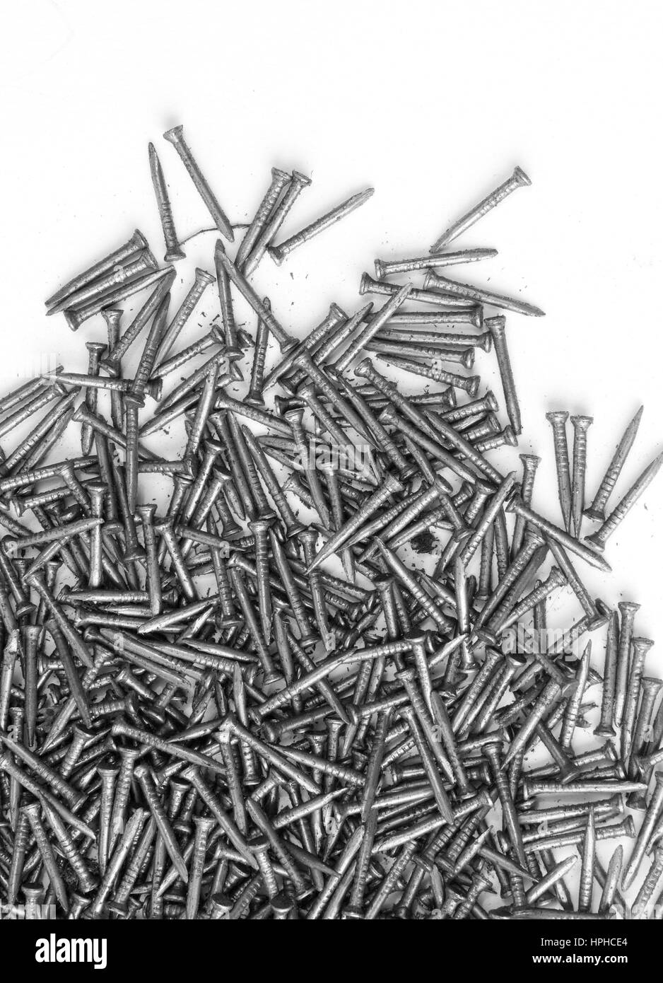 steel nails - Stock Image