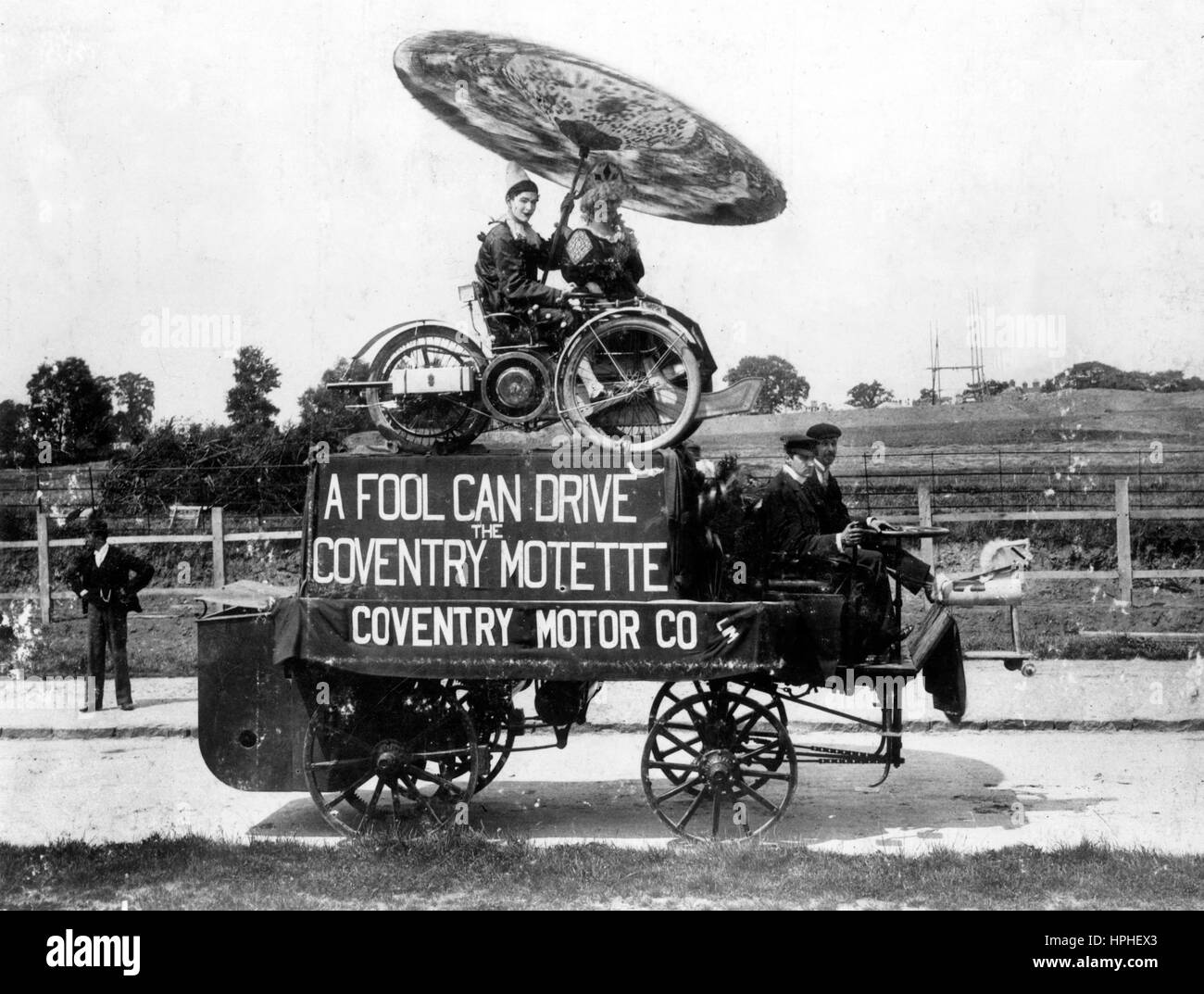 Lady Godiva show in Coventry 1897 - Stock Image