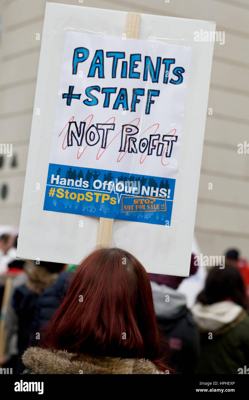 Hands off our NHS Protest downing street London - Stock Image