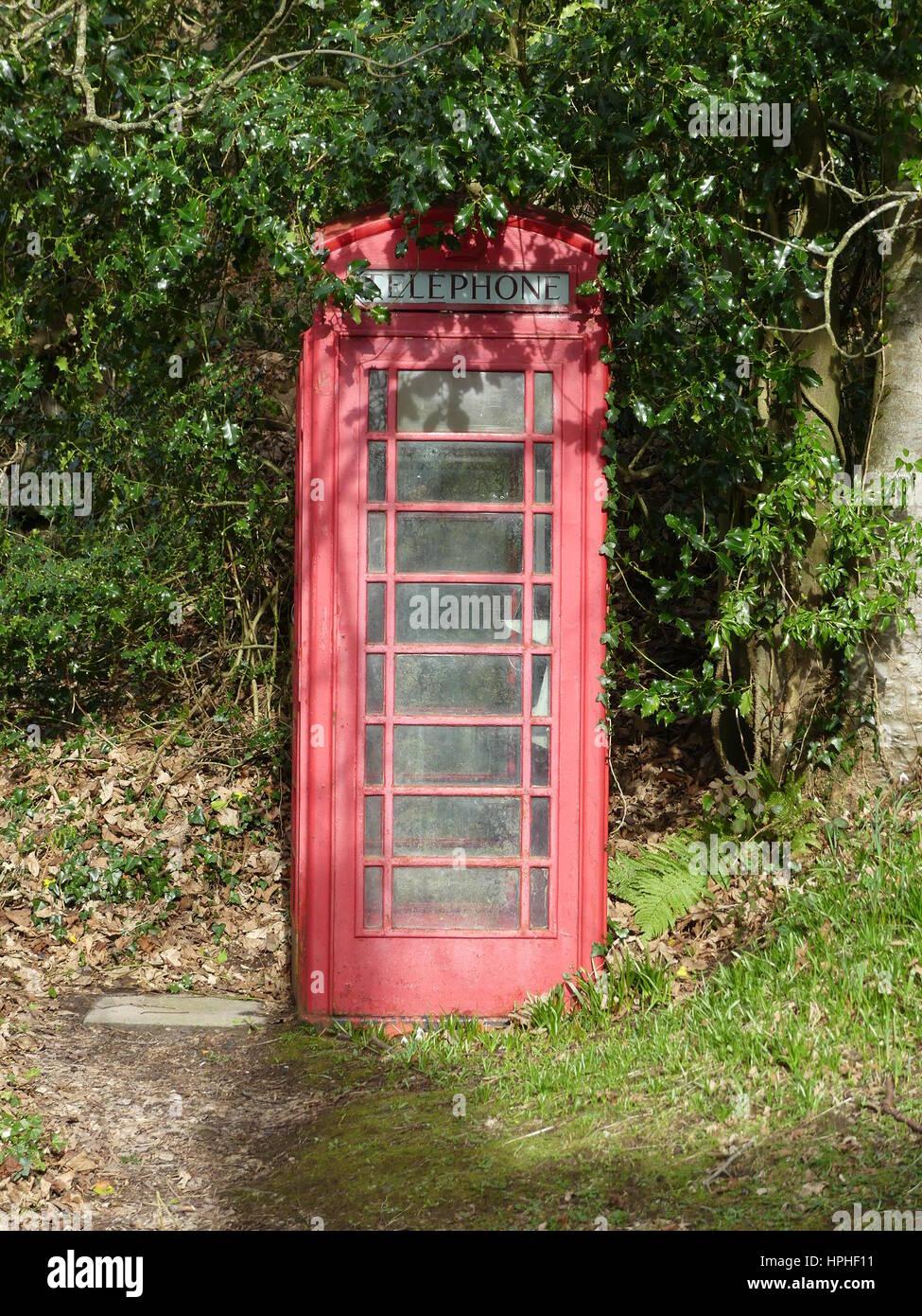 Red phone box - Stock Image