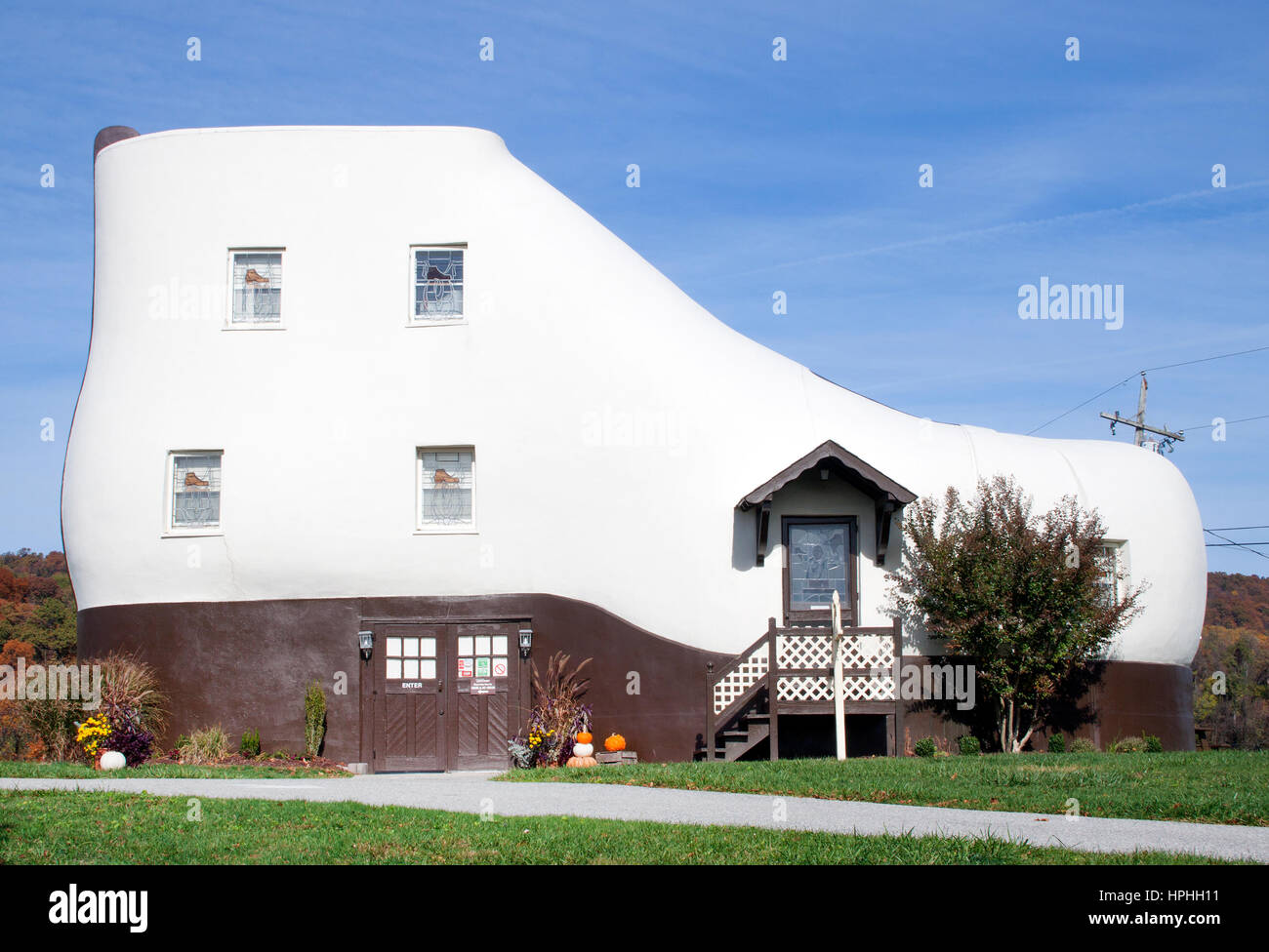 Shoe shaped House in Hellam Pennsylvania - Stock Image
