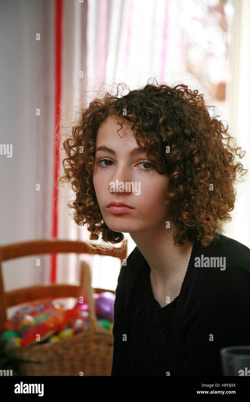 Young teenage girl - Stock Image