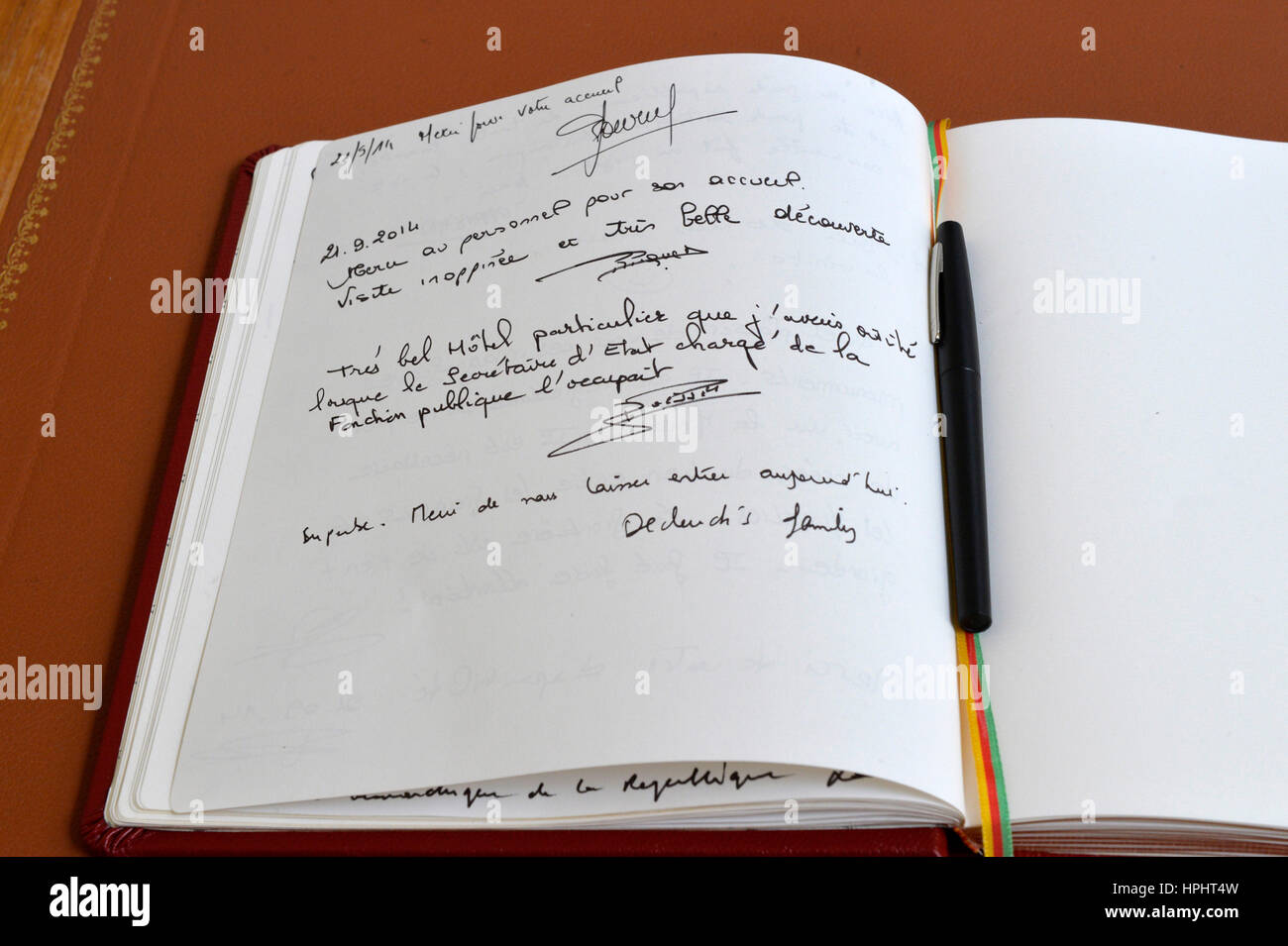France Paris Closeup On The Visitor S Book At The French