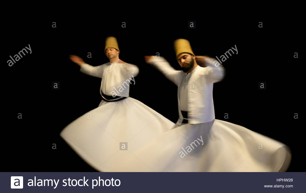Turkey. Istanbul. Sema. Sufi Whirling Dervishes - Stock Image