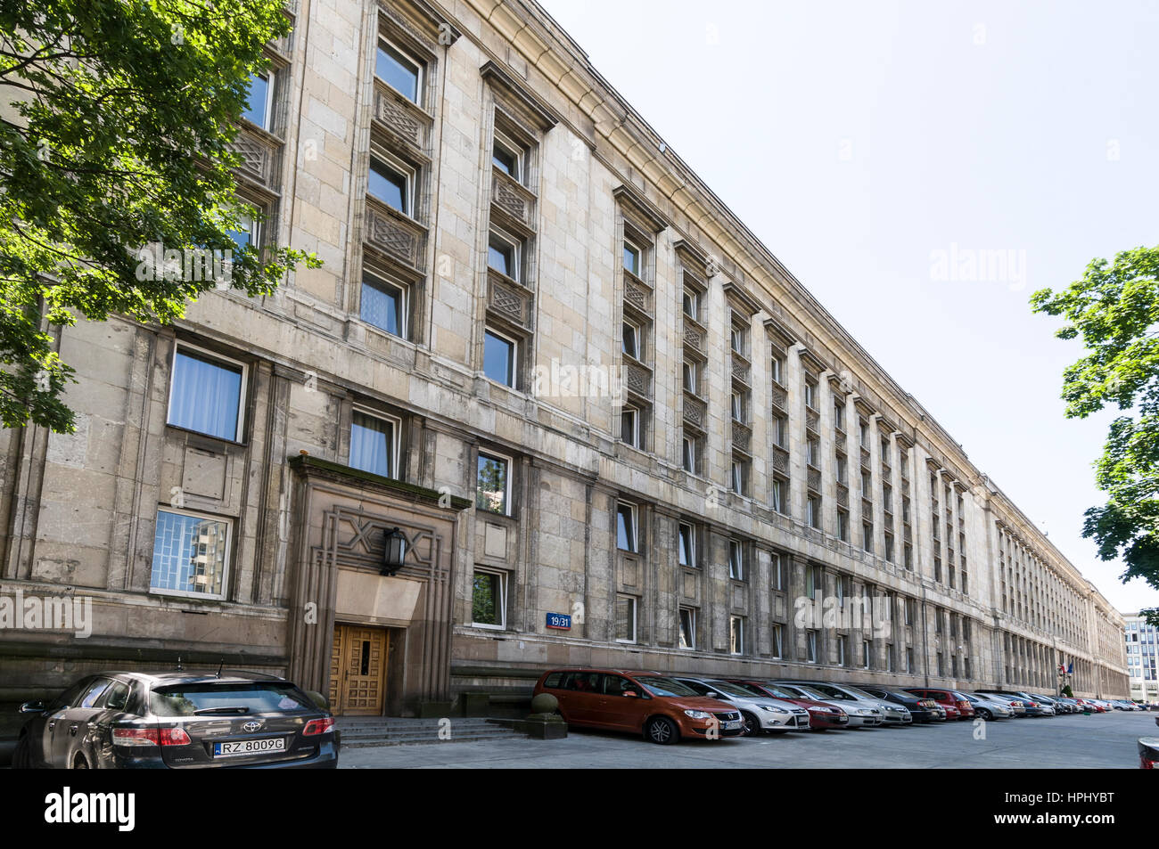 Ministerstwo Rolnictwa i rozwoju Wsi - Ministry of Agriculture and Rural Development in Wspolna Street,Warsaw,Poland - Stock Image