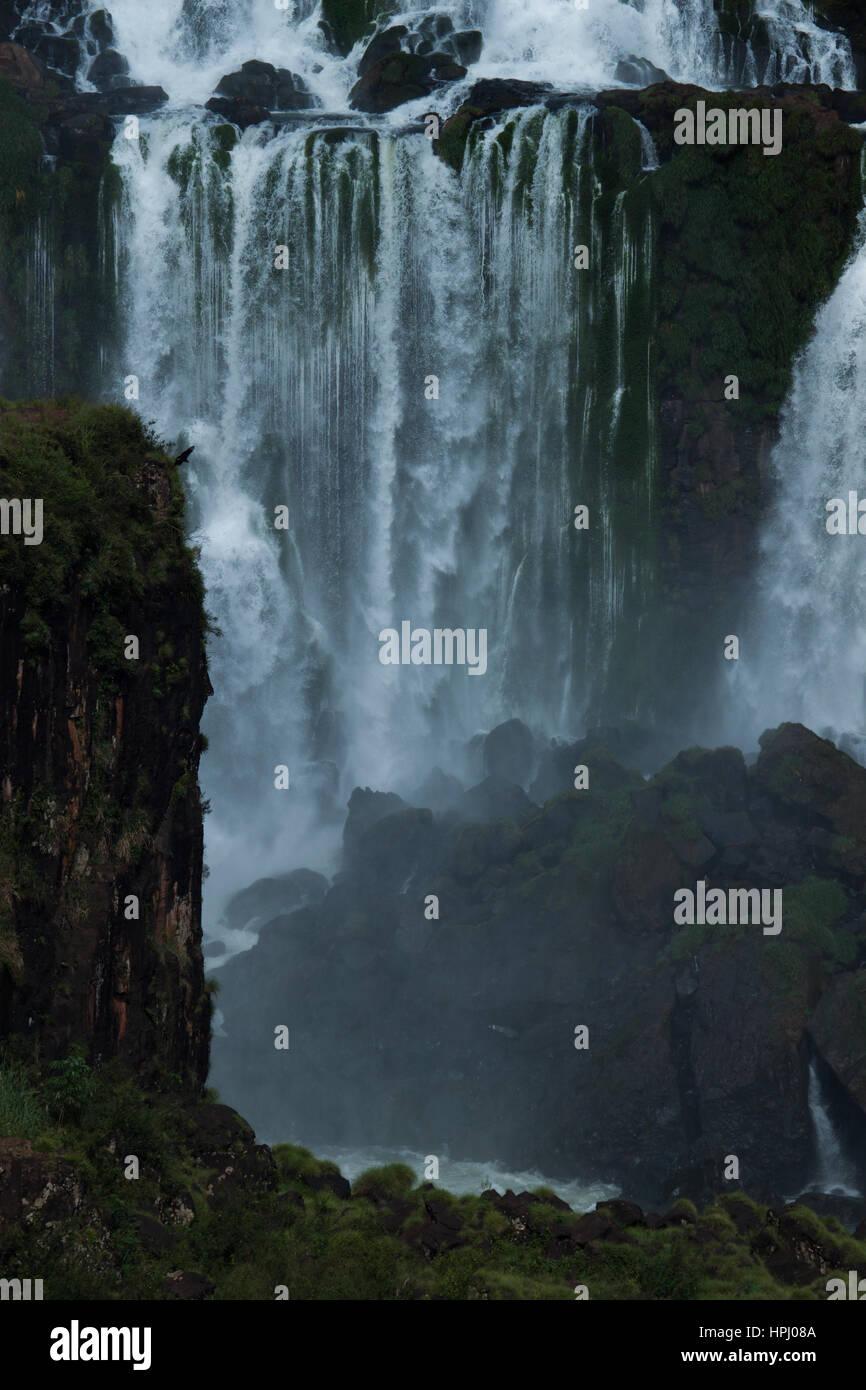 The Iguazu Falls, Iguazú Falls, Iguassu Falls, or Iguaçu Falls. Travel and tourism: spectaular views. - Stock Image