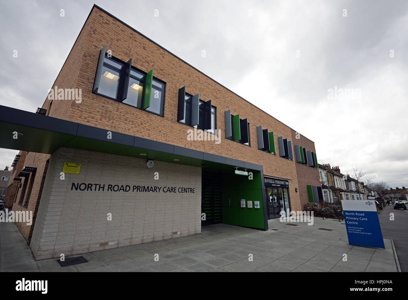North Road Primary Care Centre in Westcliff on Sea, Essex, is a new doctors clinic amalgamating three smaller doctor's - Stock Image