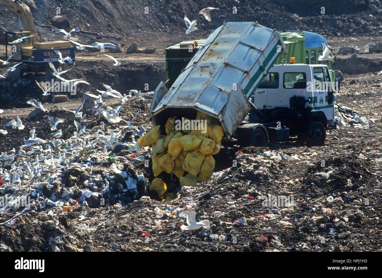 Landfill Site, UK - Stock Image