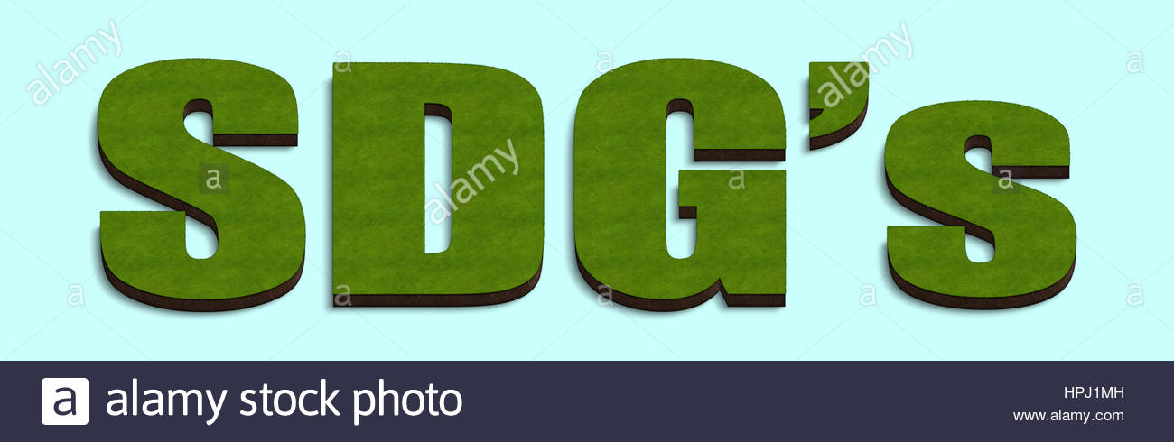Digital composite - 3d SDG's Sustainable Development Goals - Stock Image