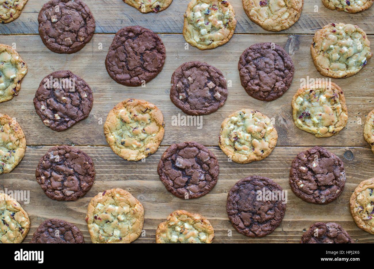 Homemade Chocolate Cookies - Stock Image