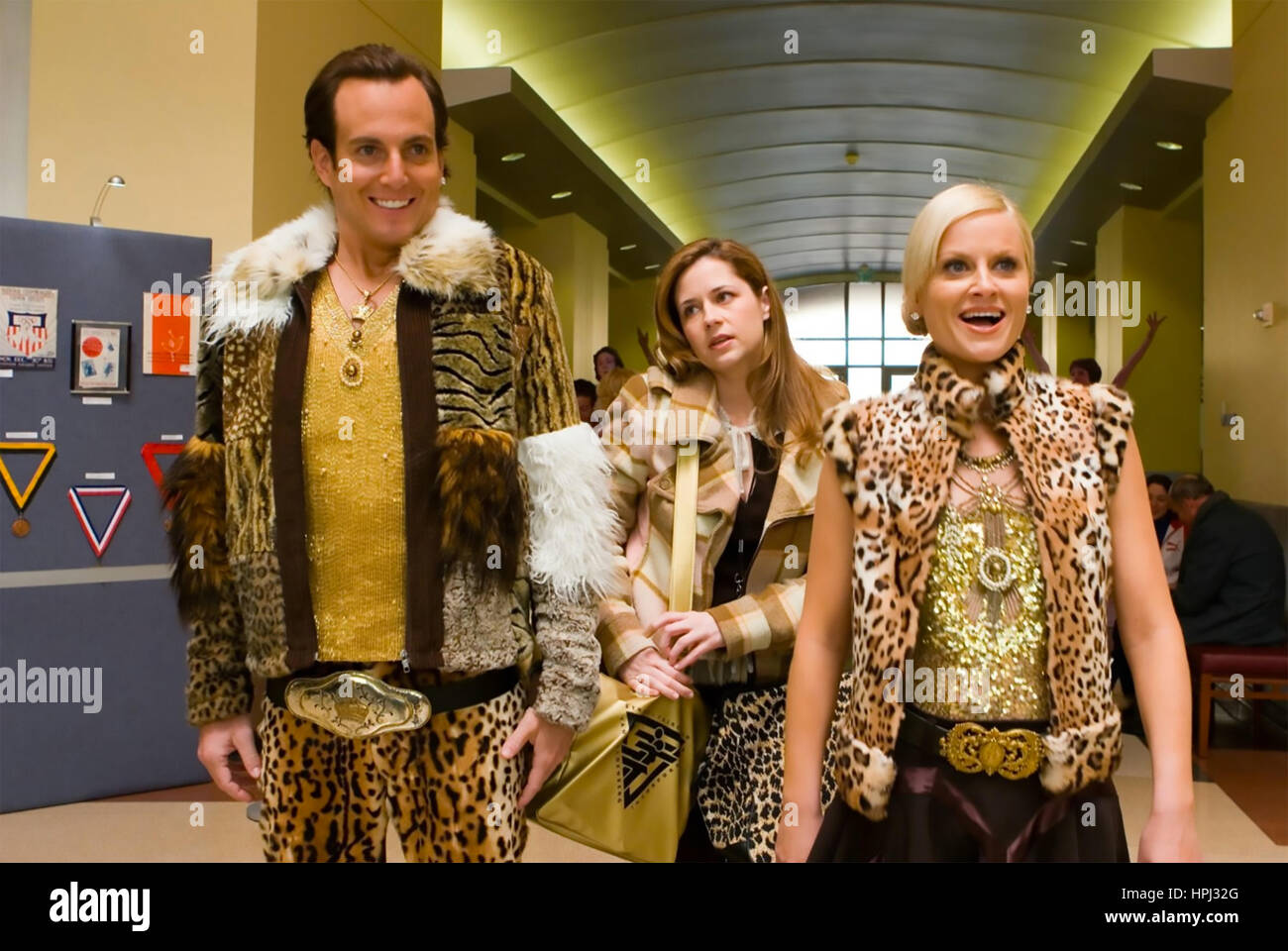BLADES OF GLORY 2007 DreamWorks film with from left: Will Arnett, Amy Poehler,  Jenna Fischer - Stock Image