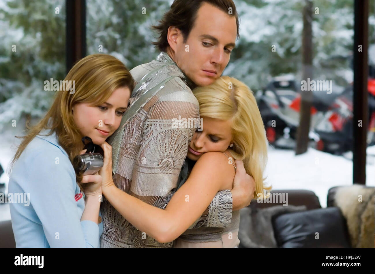 BLADES OF GLORY 2007 DreamWorks film with from left:  Jenna Fischer,  Will Arnett, Amy Poehler - Stock Image