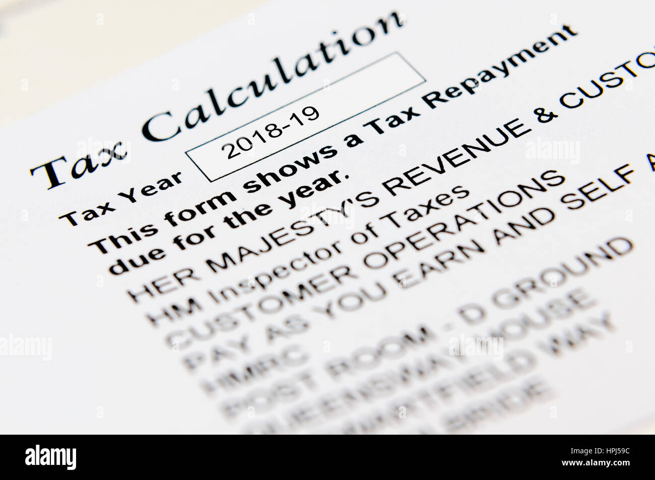 Letter from the HMRC informing of a tax overpayment, and a
