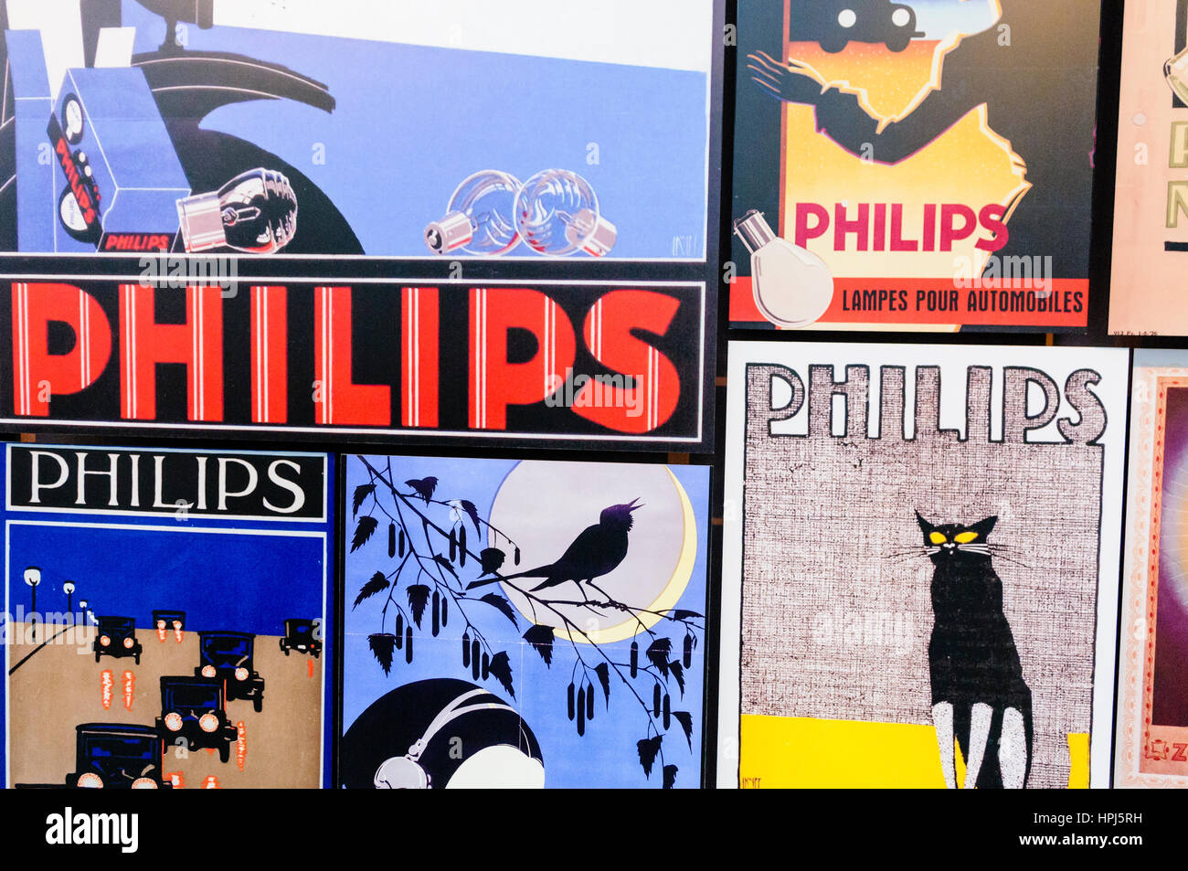 Advertising for Philips products, 1960s. - Stock Image