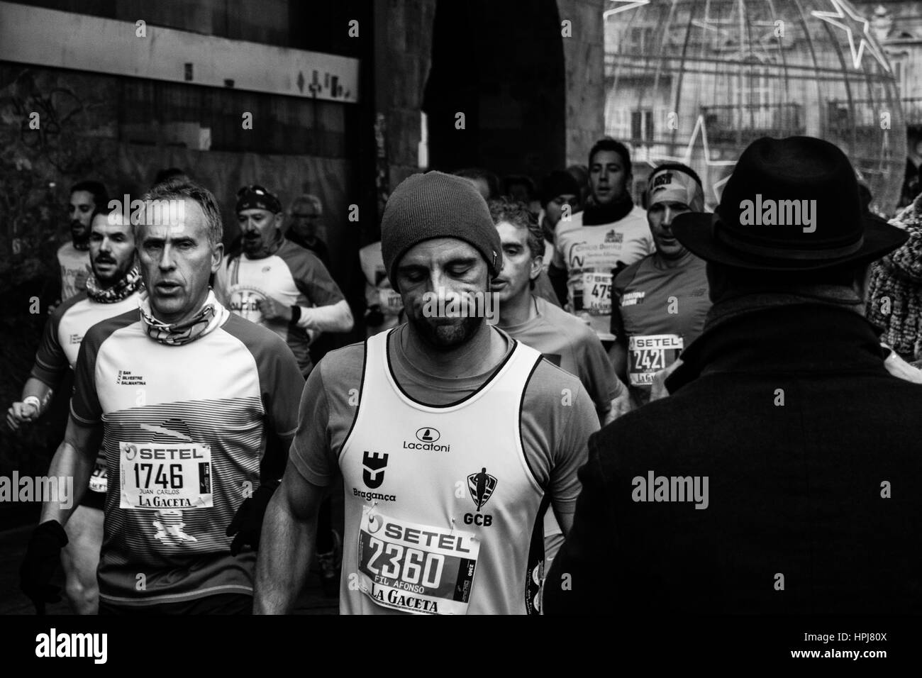 Marathon Running Black and White Stock Photos & Images