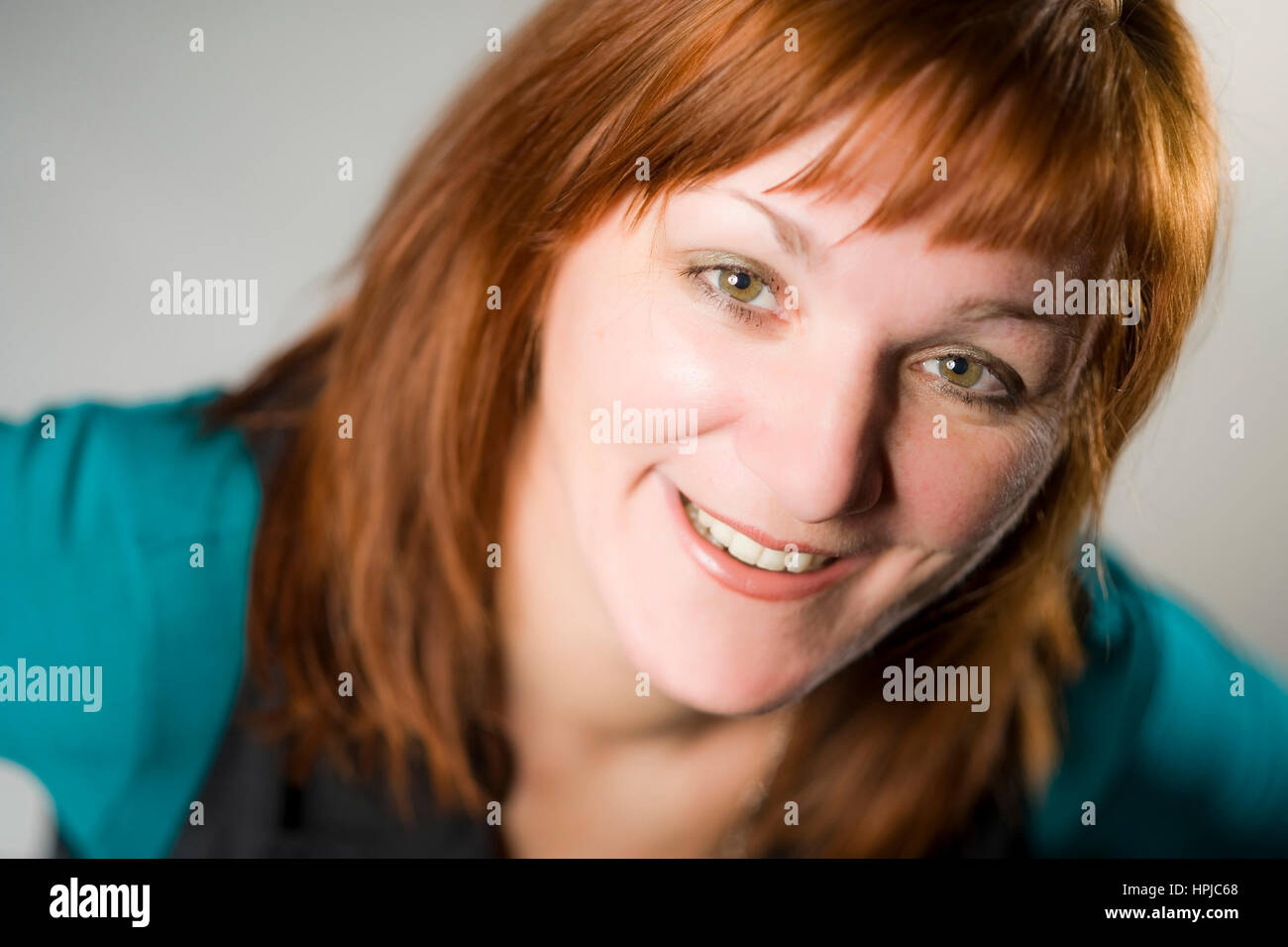 Model released , Rothaarige Frau im Portrait - red haired woman in portrait - Stock Image