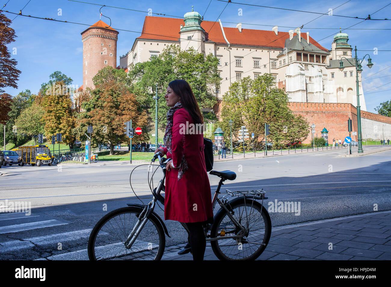 Wawel Royal Castle On Wawel Hill, Krakow Poland Stock Photo