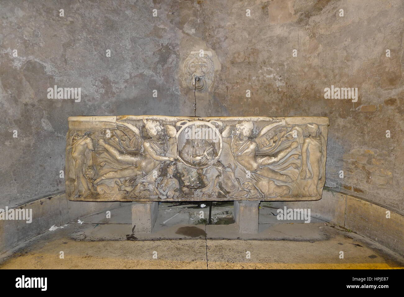 Water Trough In Rome Italy Stock Photo Alamy