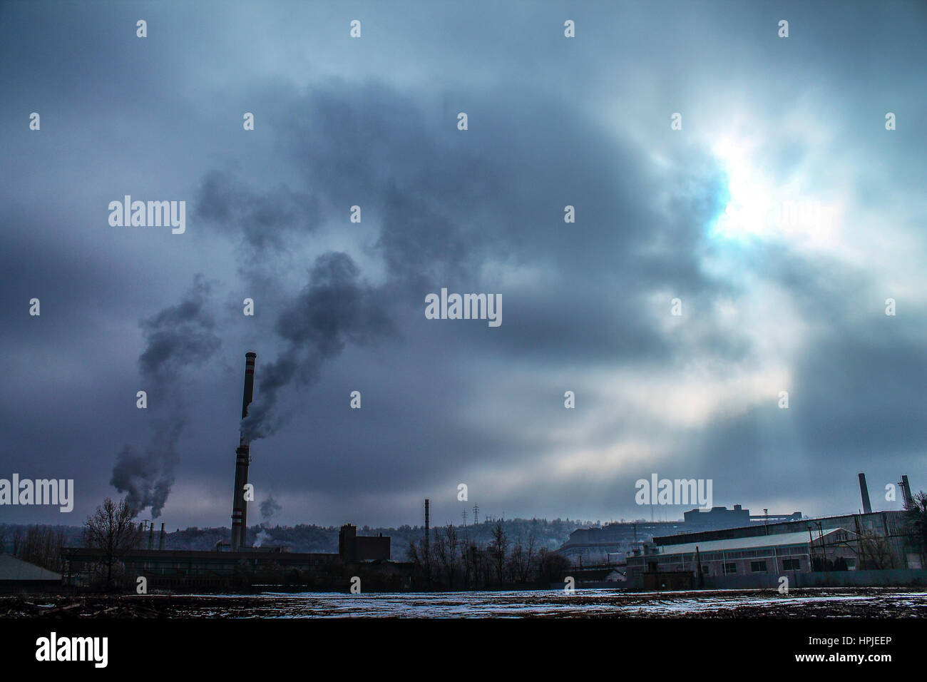 Ecological disaster - pollution - Stock Image