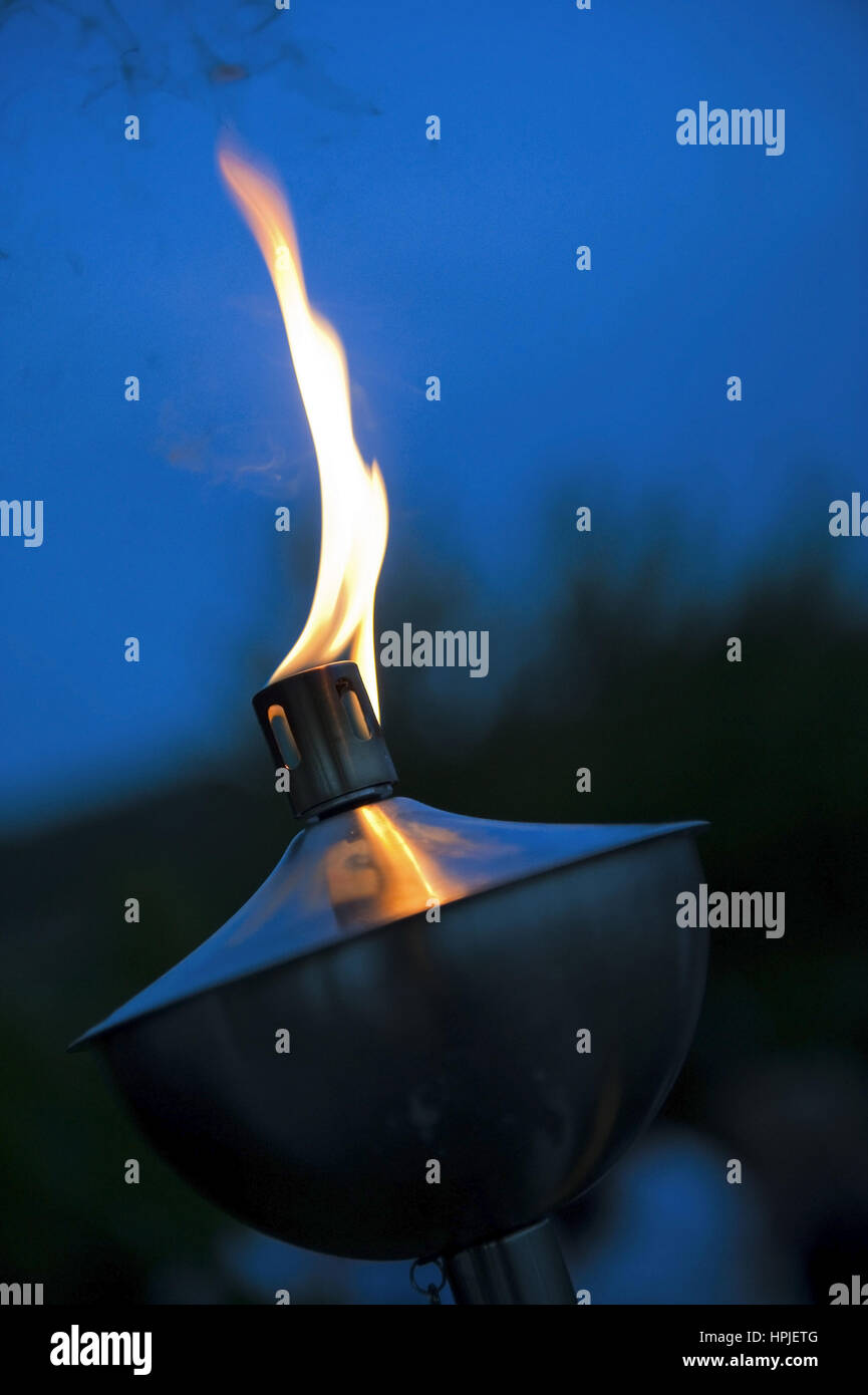 Brennende Fackel - burning torch Stock Photo