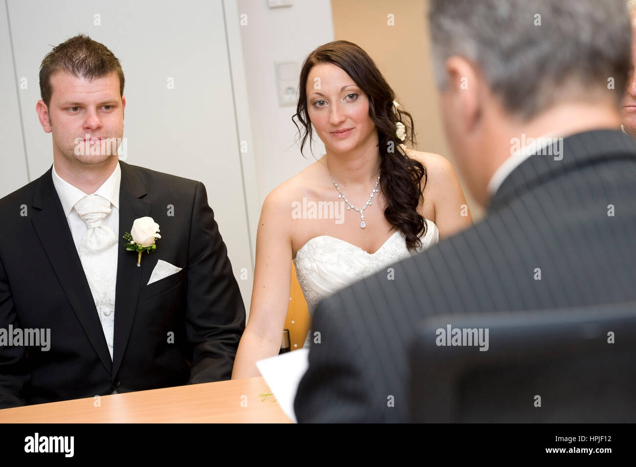 Model released , Standesamtliche Trauung - civil marriage Stock Photo