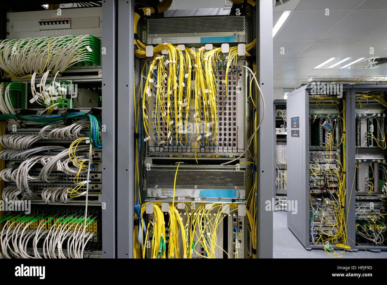 Detail Of Cable Management On A Data Centre Server Room Stock Photo Wiring