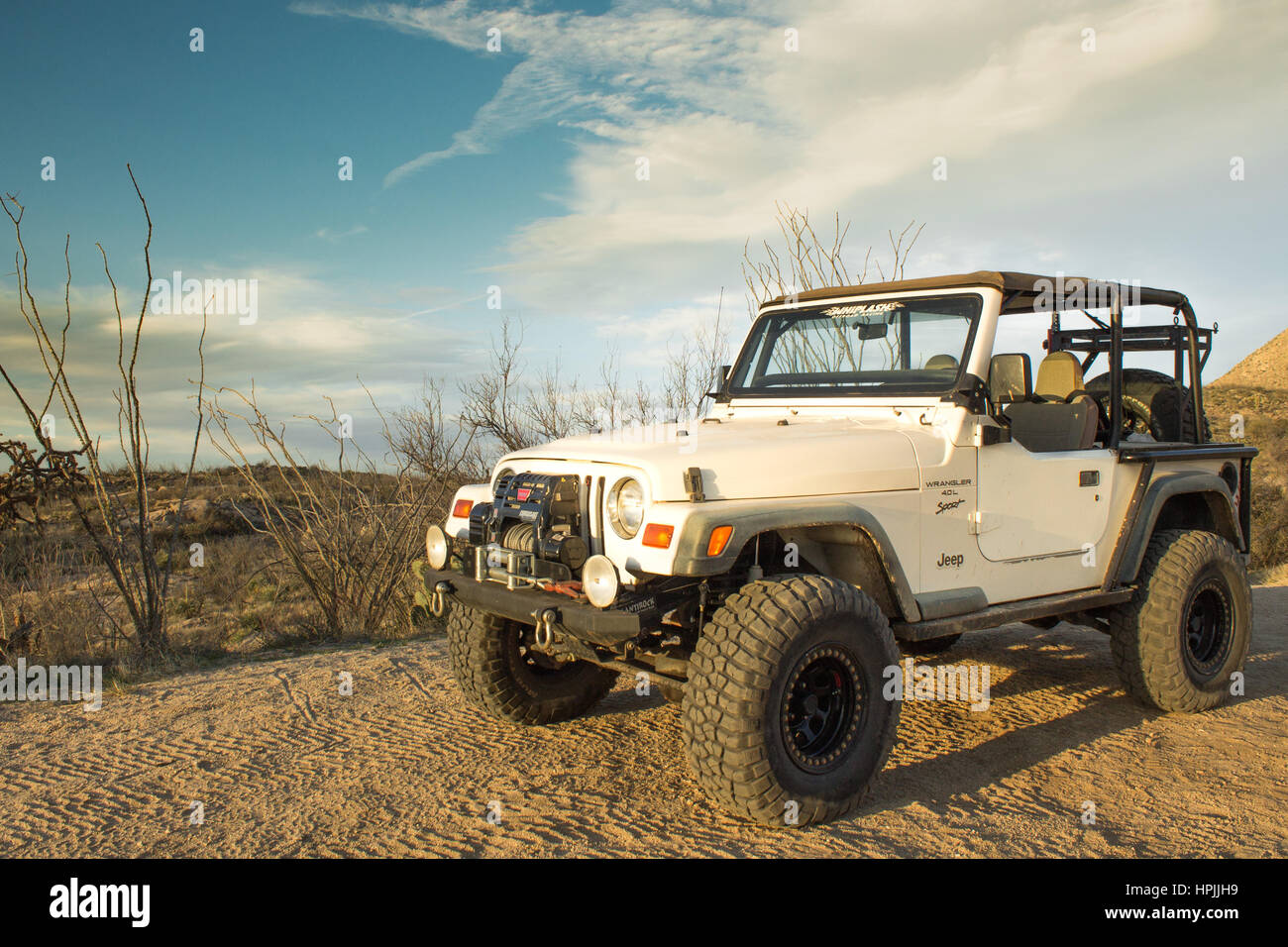 Offroad jeep in Tucson - Stock Image