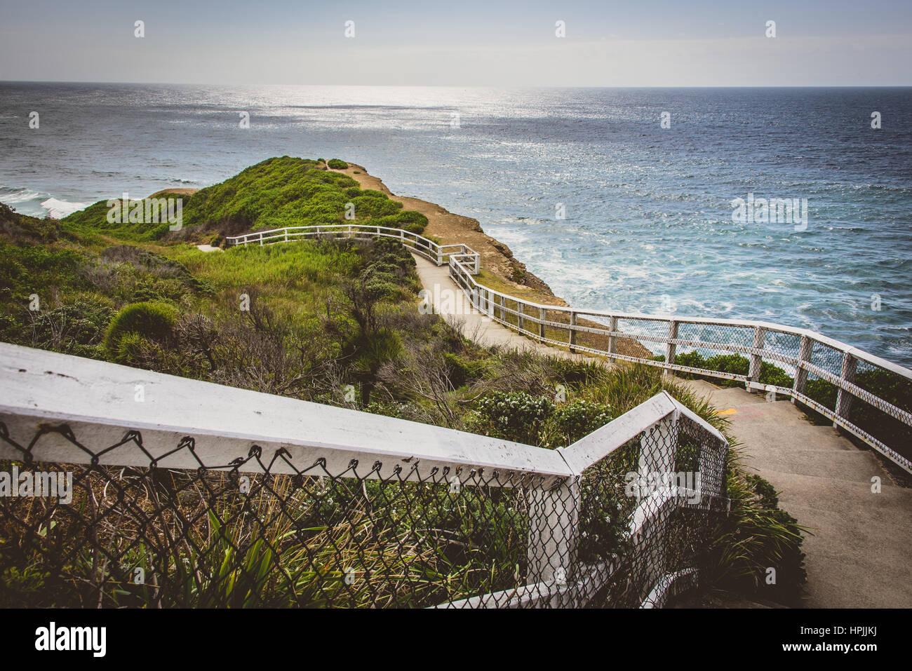 Newcastle Coastal walk views - Stock Image