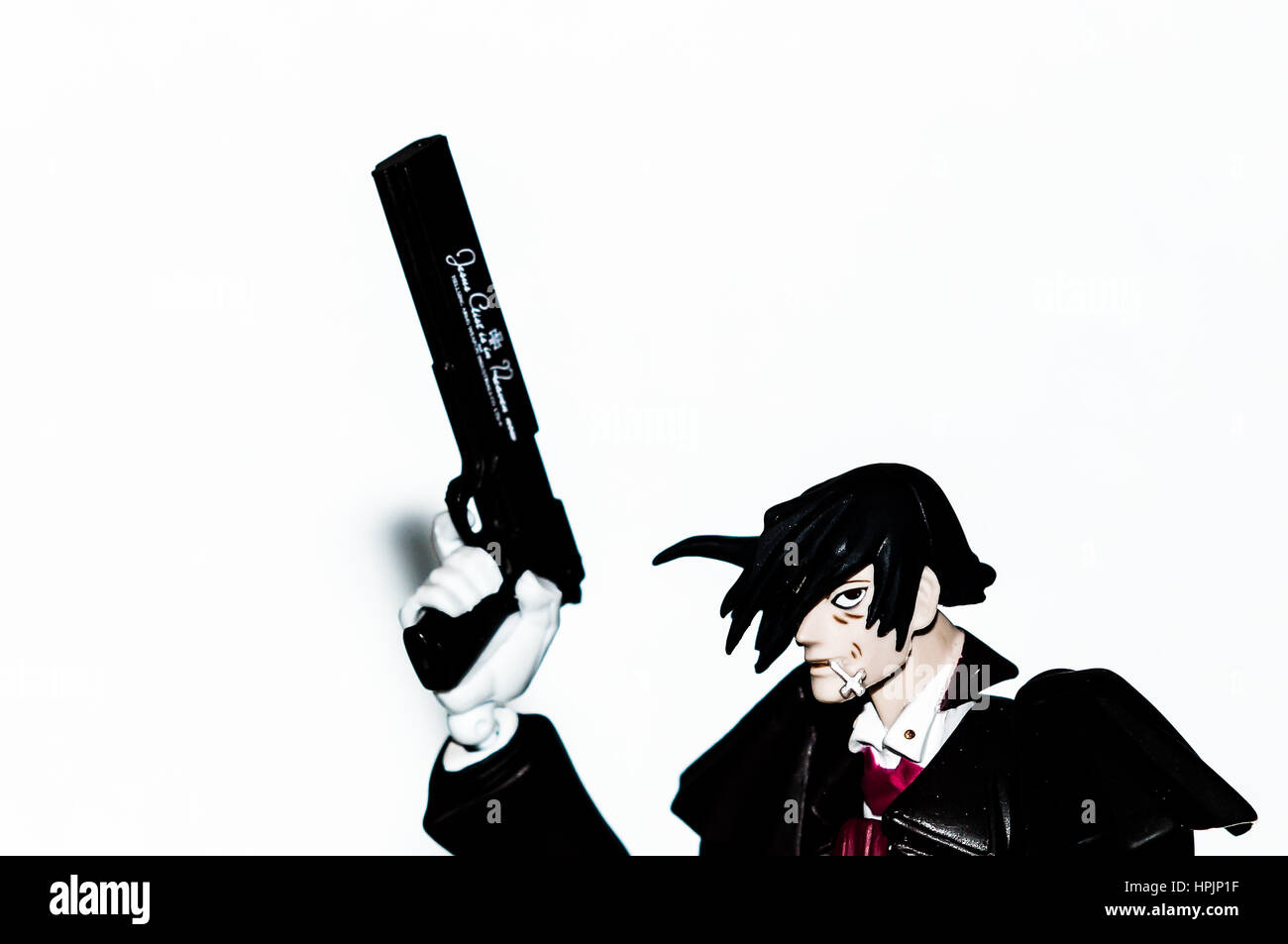 Alucard With His Gun Hellsing Stock Photo Alamy