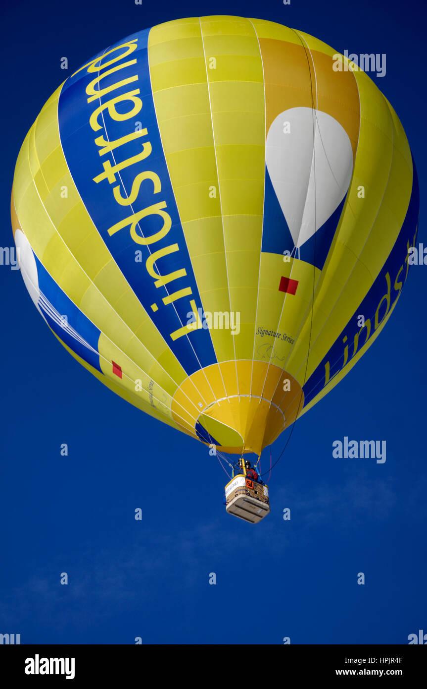 Gruyère: Chateau d'Oex International Balloon Festival / Festival International de Ballons à Château-d'Oex Stock Photo