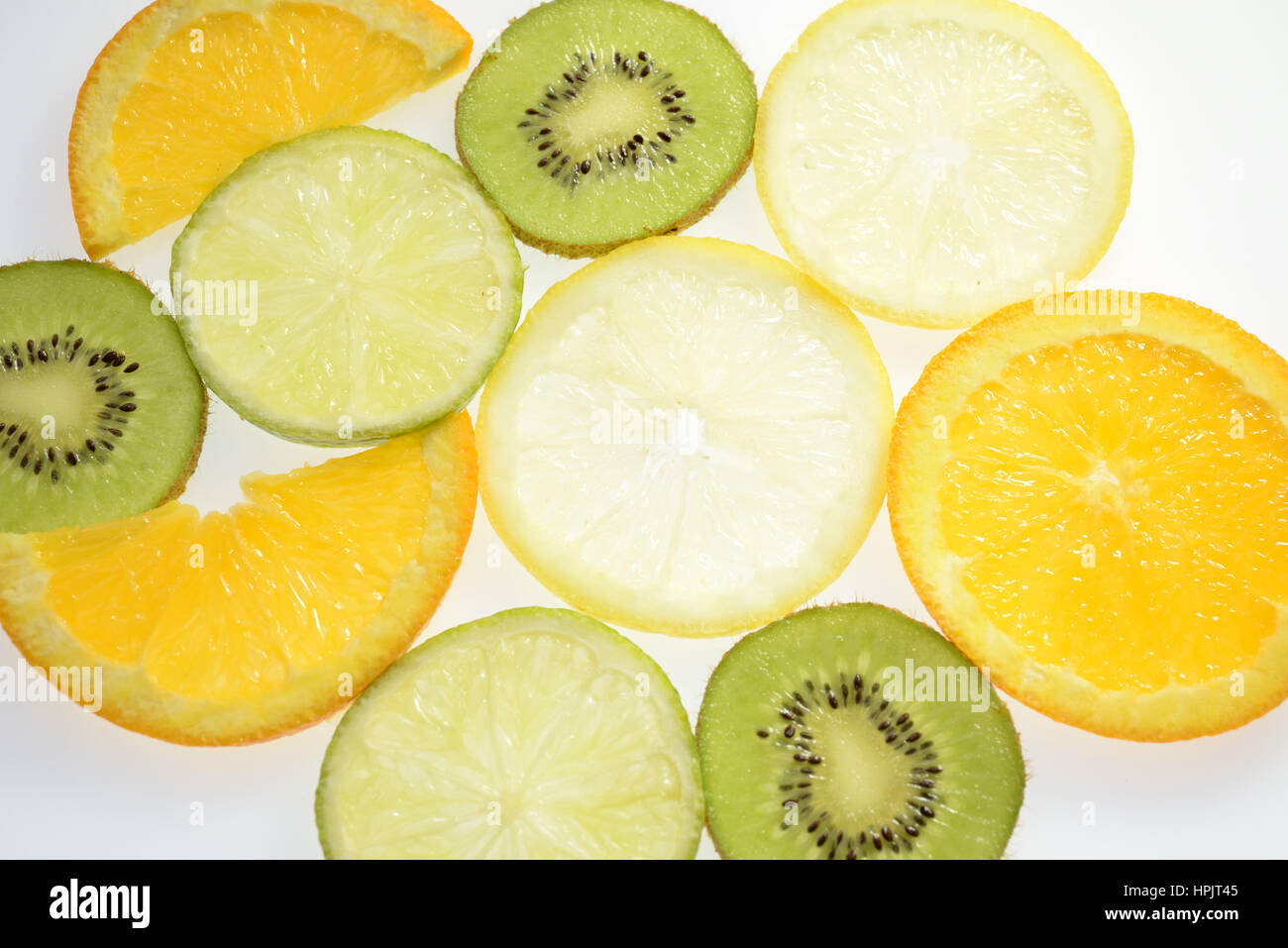 Slices of citrus fruit - Stock Image