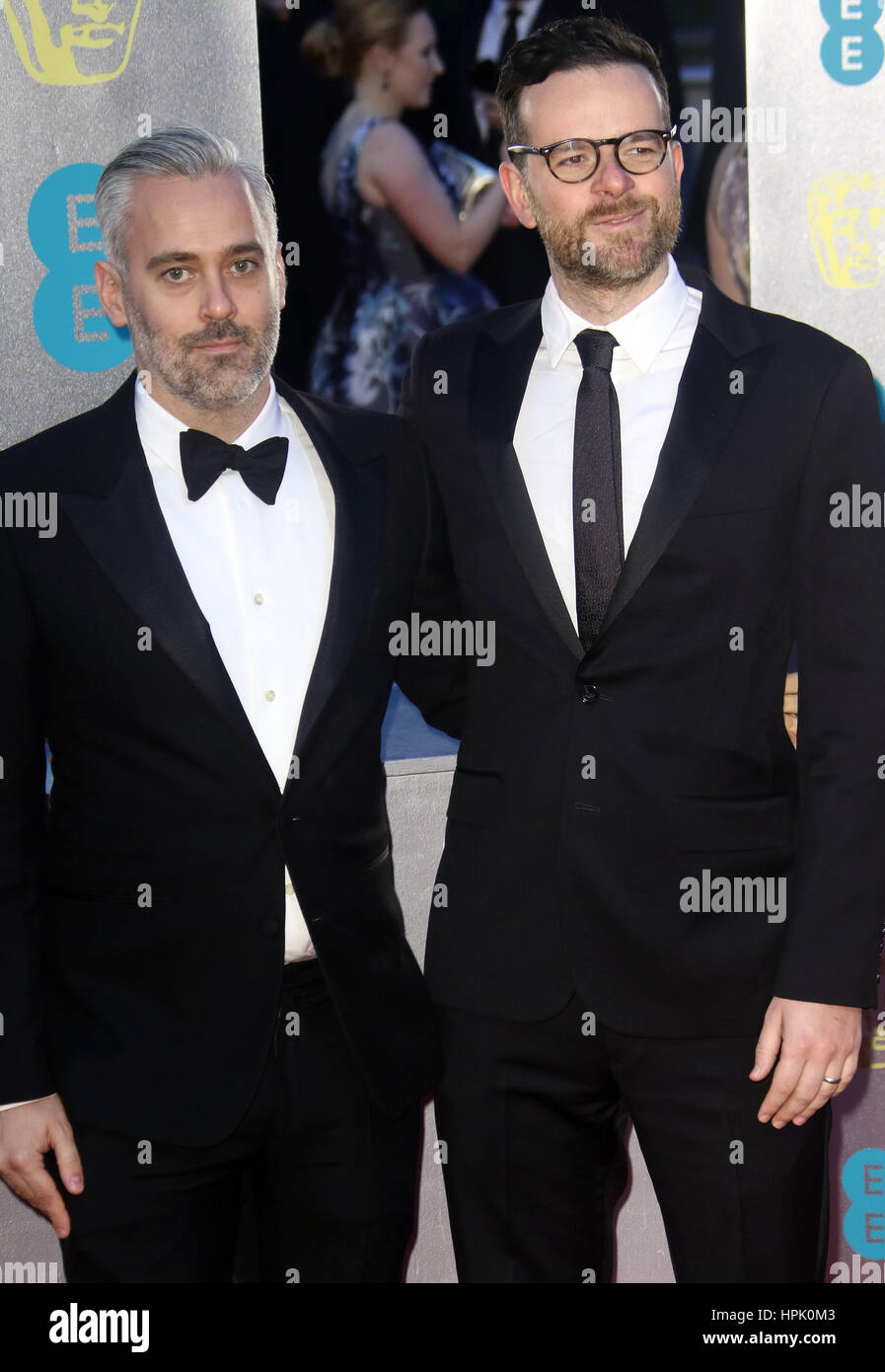 Feb 12, 2017  - Iain Canning attending EE British Academy Film Awards 2017 at Royal Opera House in London, England, - Stock Image