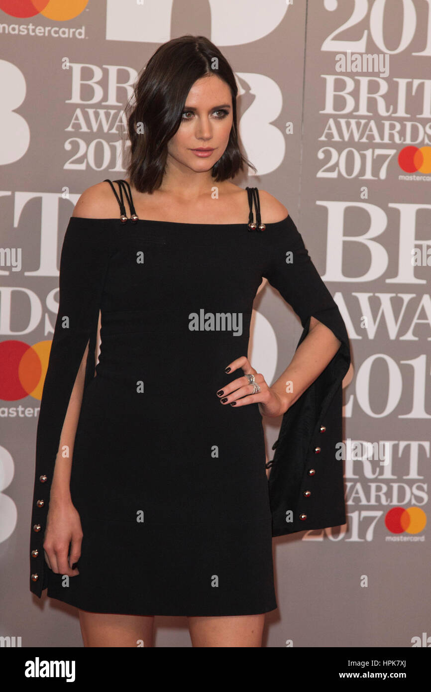 London, UK. 22 February 2017. Lilah Parsons. Red carpet arrivals for the 2017 BRIT Awards at the O2 Arena. © - Stock Image