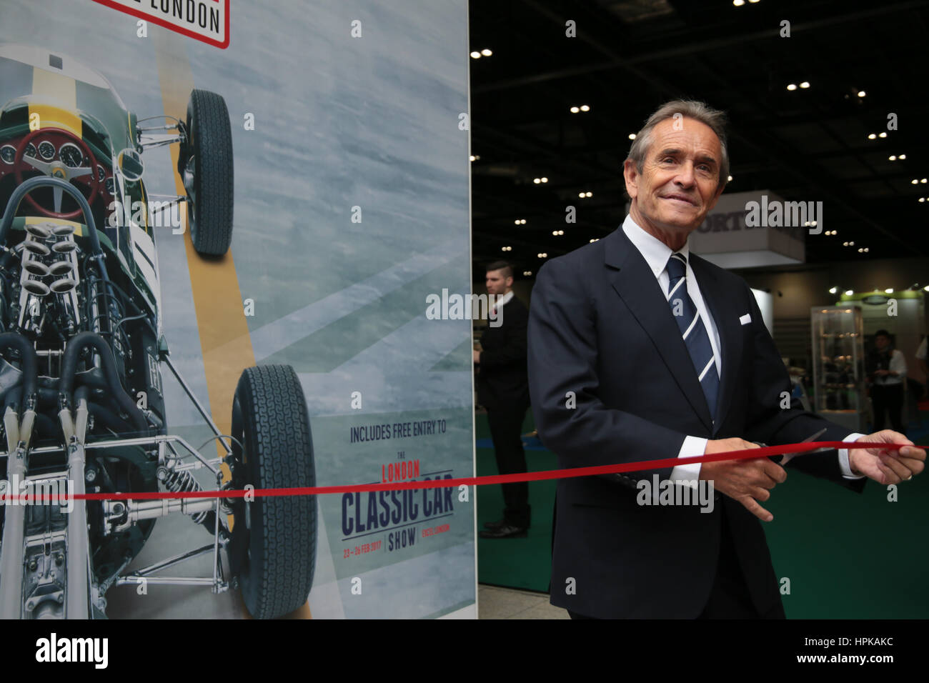 London, UK. 23rd Feb, 2017. Le Mans Legend Jacky Ickx Belgian former racing car driver who won the 24 hours of Le - Stock Image