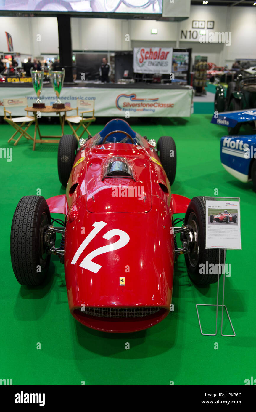 ExCel, London, UK. 23rd February, 2017. The inaugural Historic Motorsport International opens at ExCel, showcasing - Stock Image