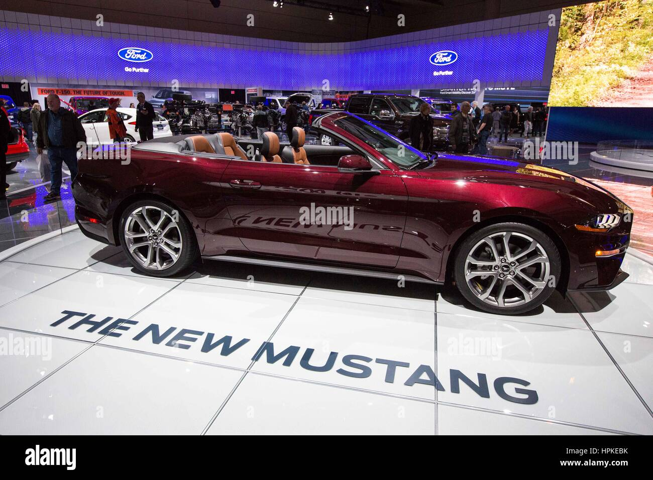 Toronto ontario canada 22nd feb 2017 the 2017 ford mustang on display during the toronto international auto show in toronto ont on feb 22 2017