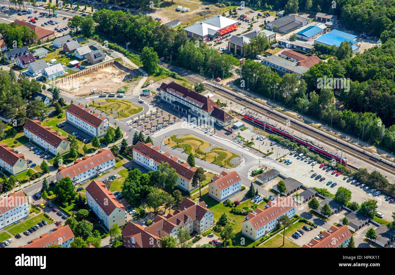 Binz station, Binz, Ostseeküste, Western Pomerania, Mecklenburg-West Pomerania, Germany - Stock Image