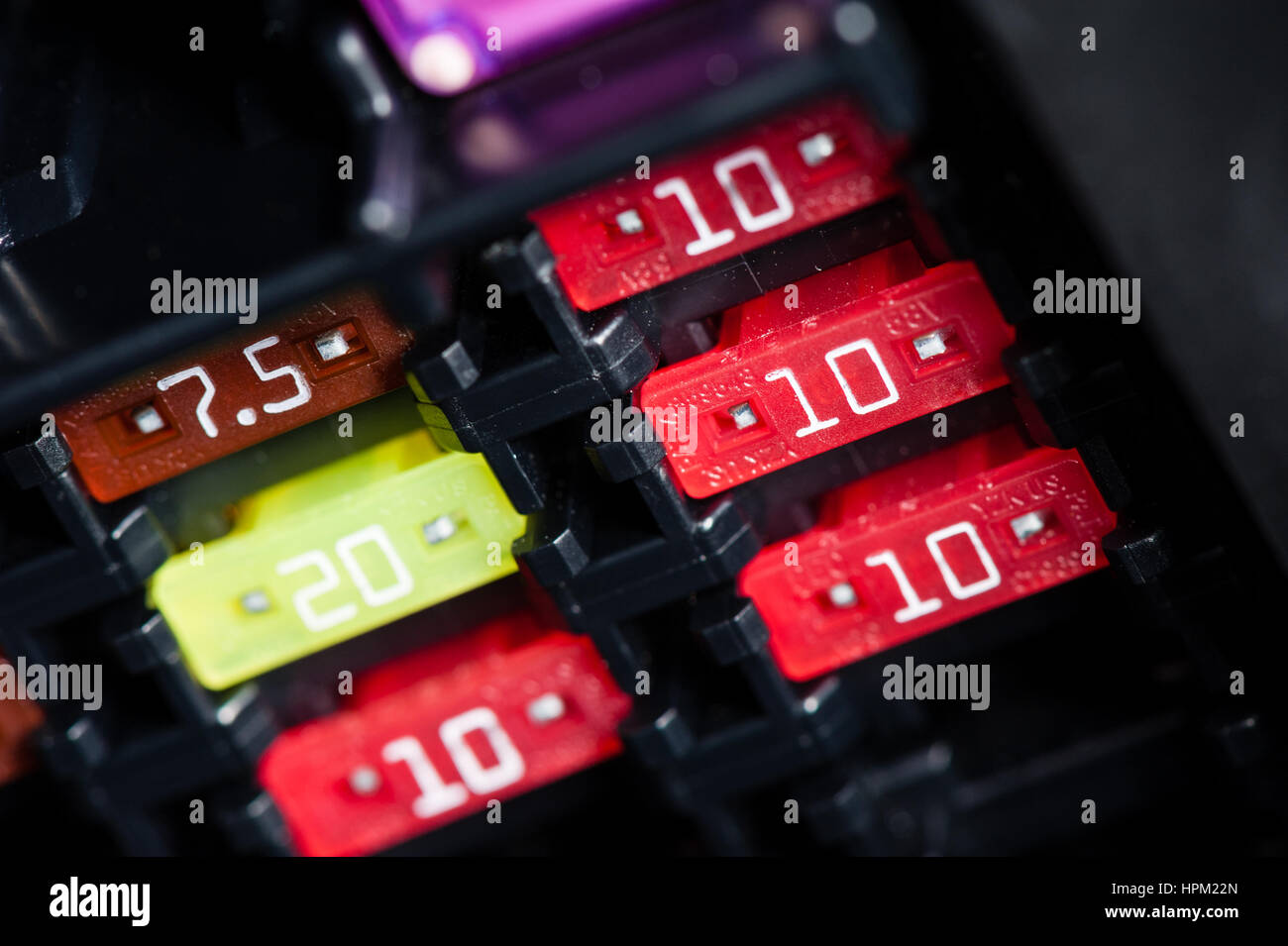 Electric Fuse Box Car Stock Photos On Closeup Fuses In Inside The Image