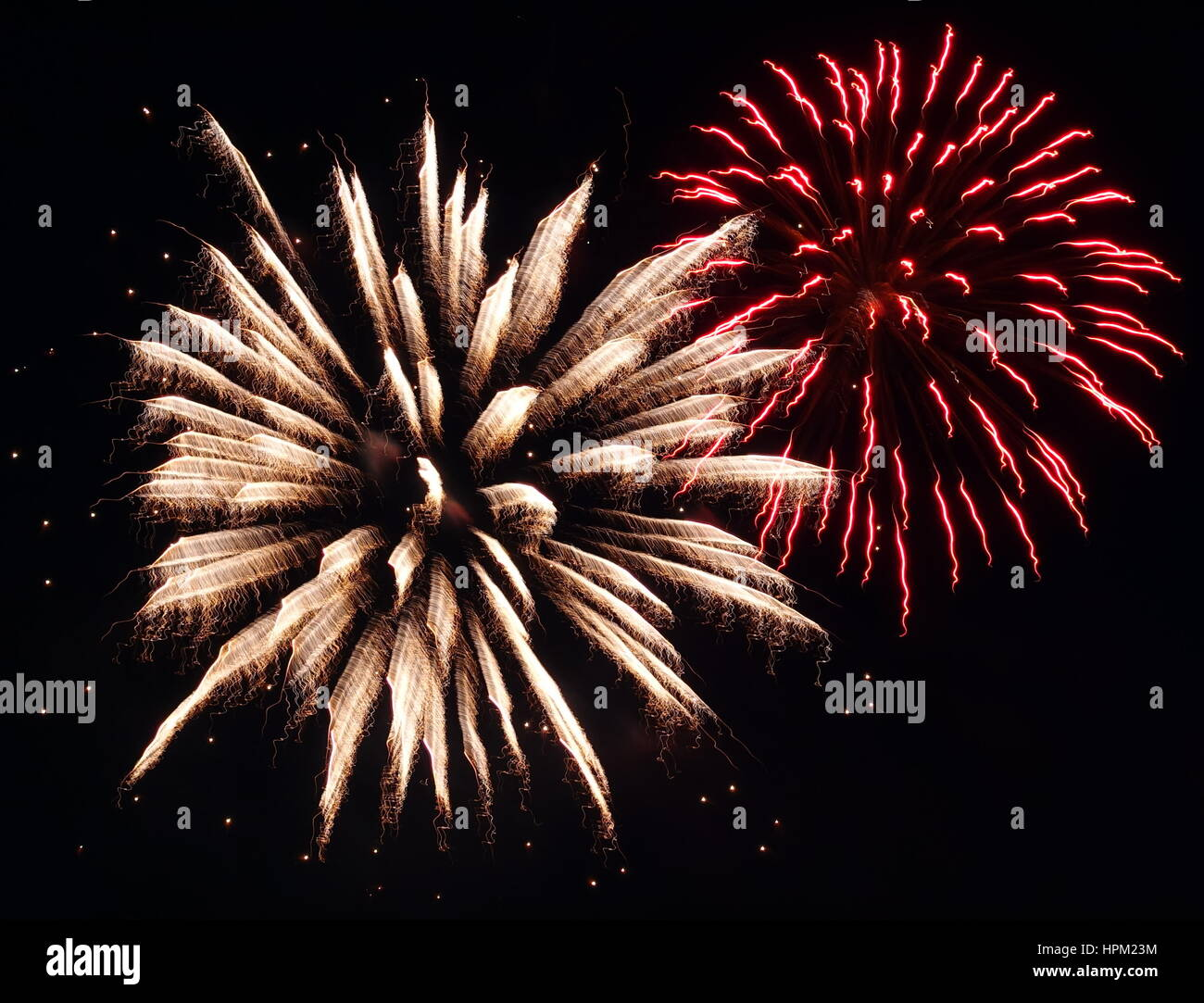 Fire Works For Canada Day In Cranbrook, BC - Stock Image