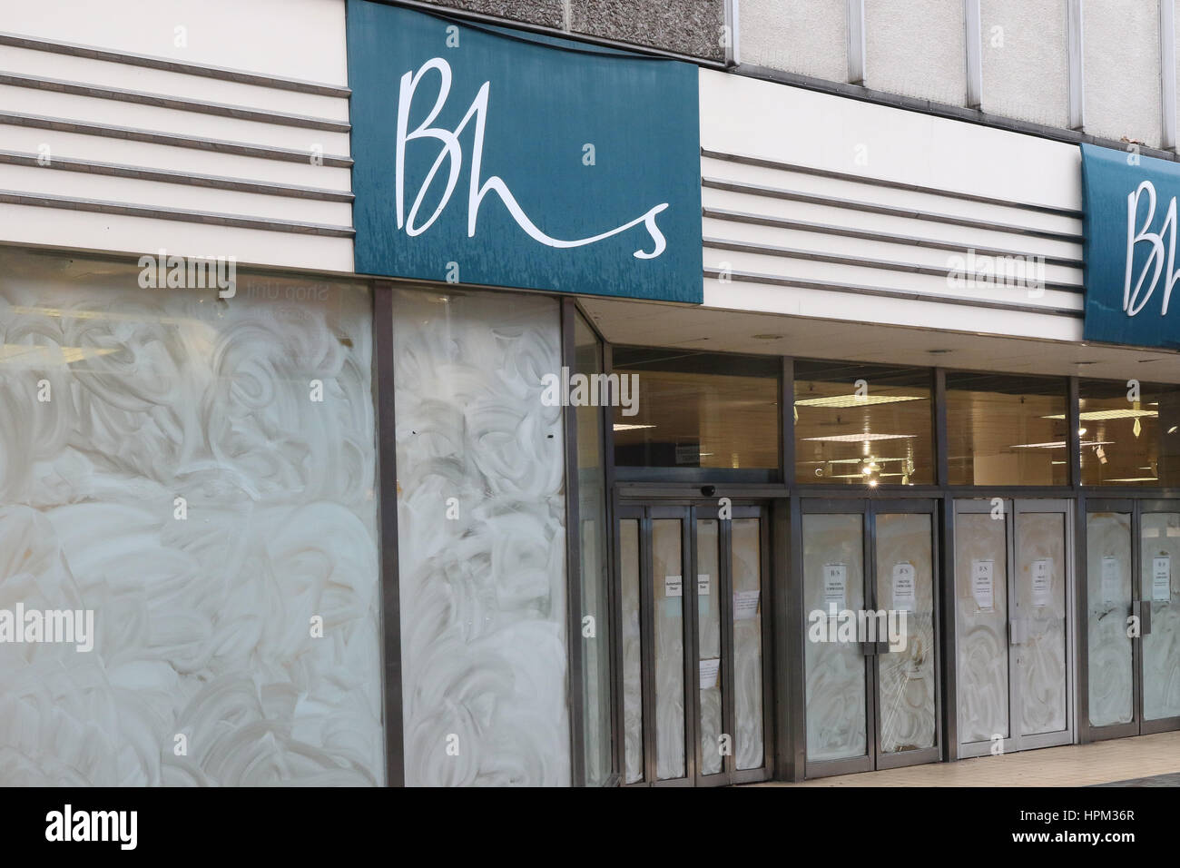 Fomer British Home Stores (BHS) premises in the centre of Belfast, Northern Ireland. - Stock Image