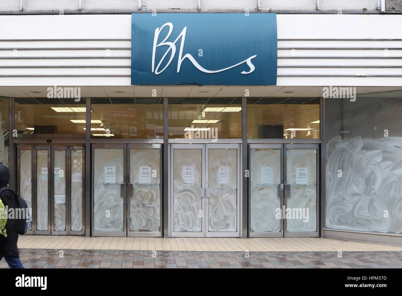Fomer British Home Stores (BHS) premises in the cetre of Belfast, Northern Ireland. - Stock Image
