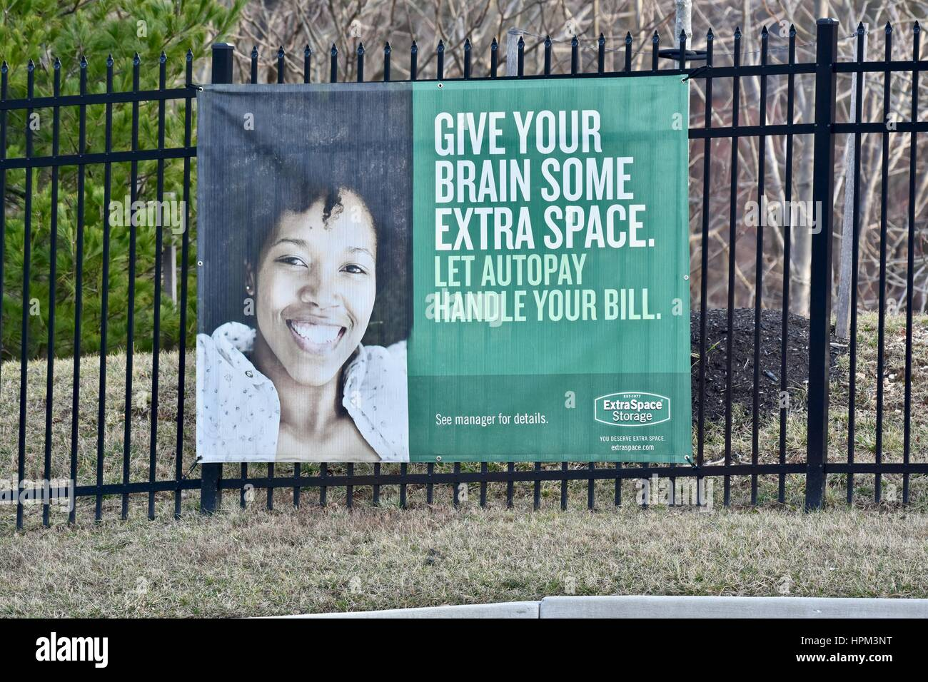 Extra Space storage sign - Stock Image