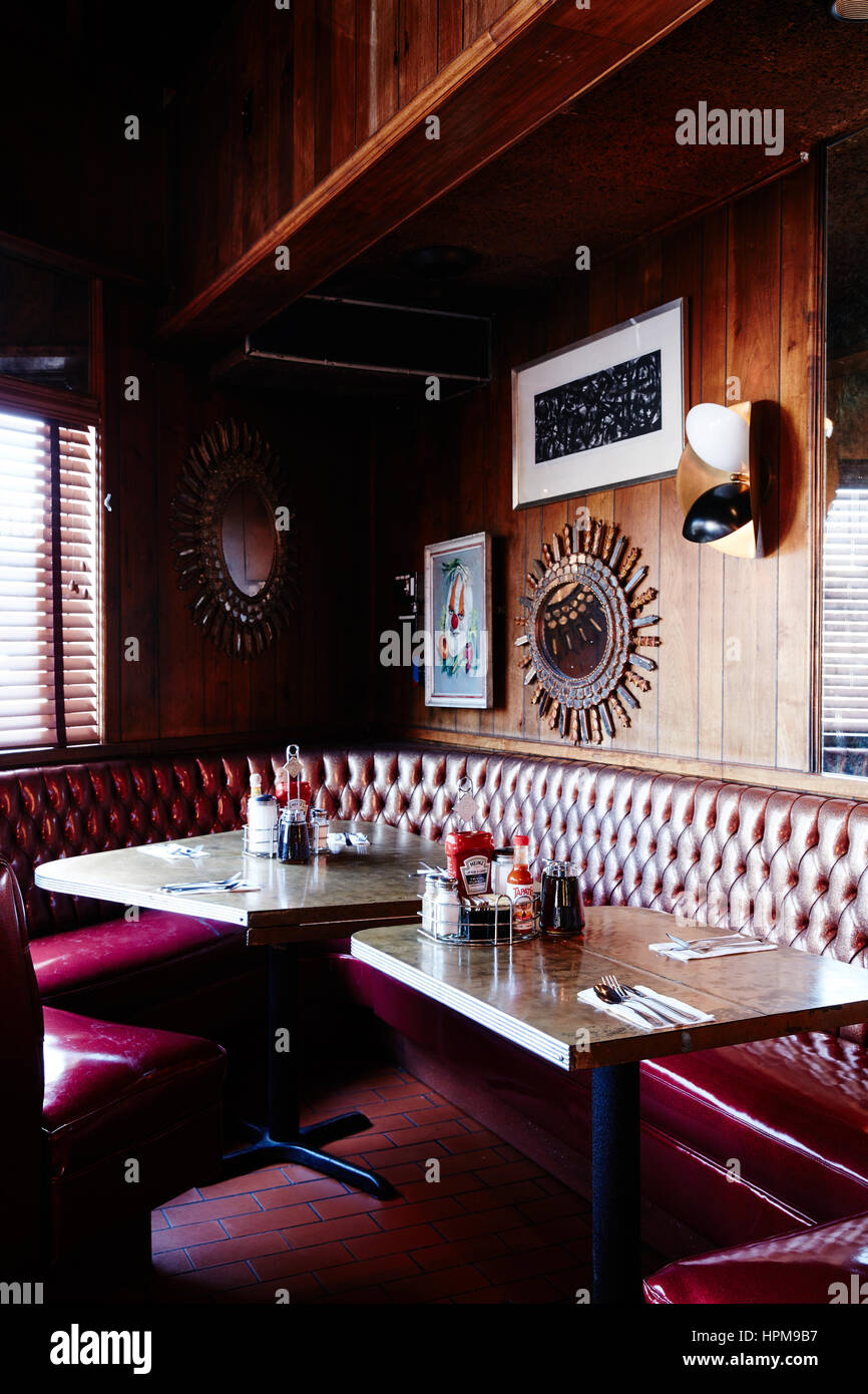 Retro Diner Interior Stock Photo Alamy