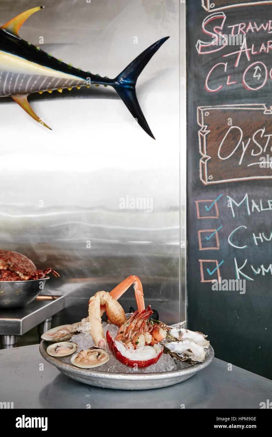 Seafood Platter - 1 Tier $55 - Stock Image