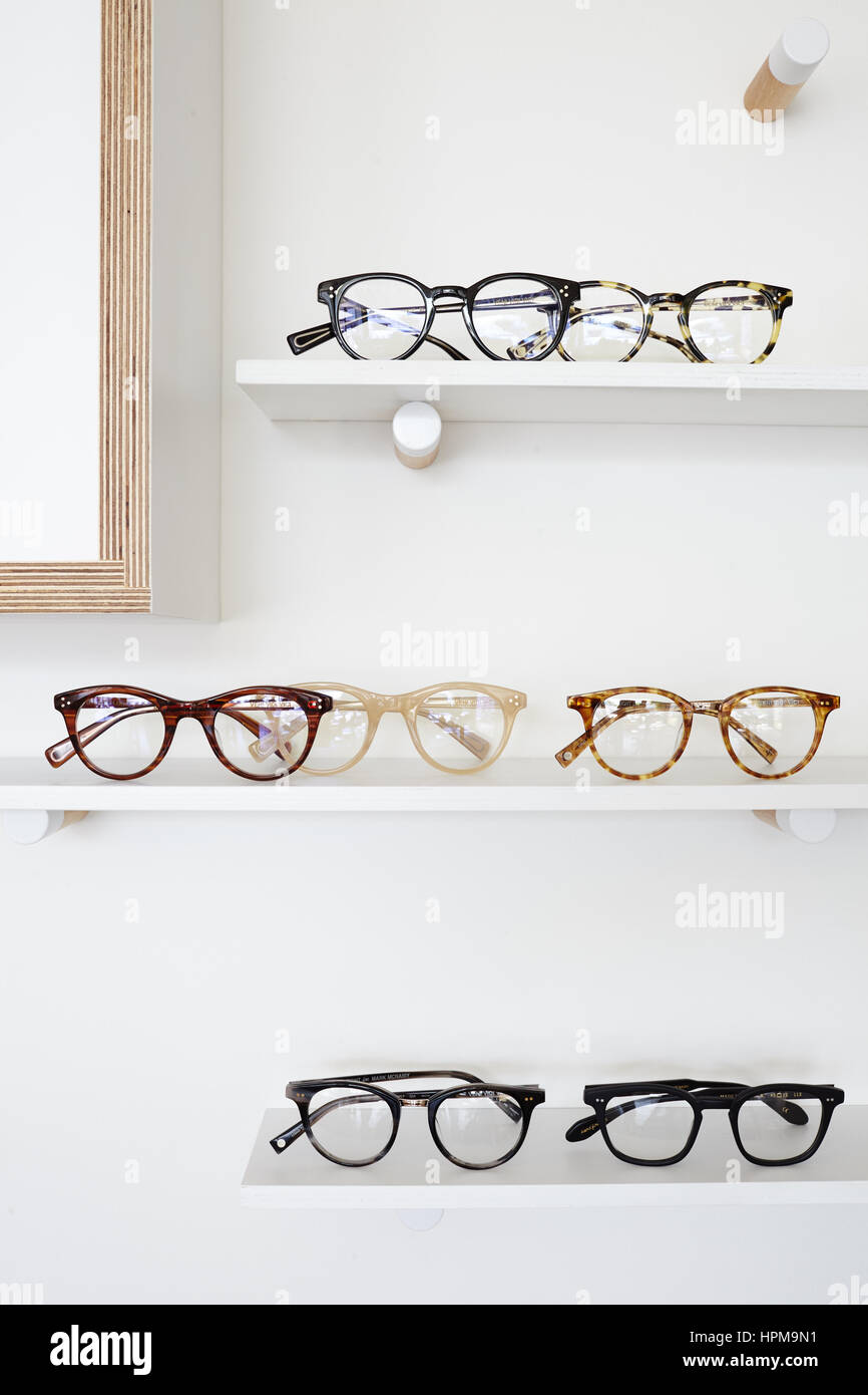glasses frames on store display shelf Stock Photo: 134441693 - Alamy