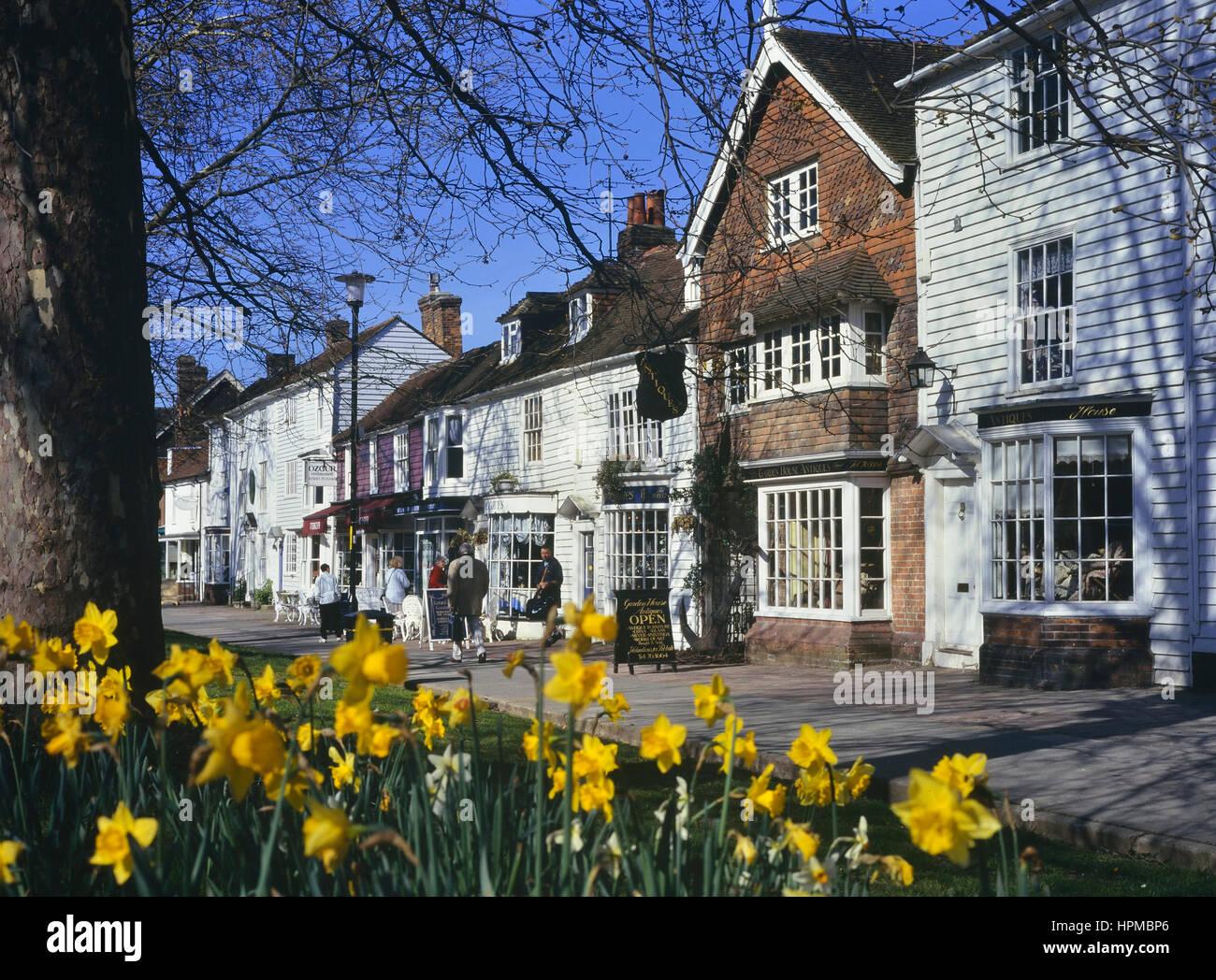 Tenterden in spring. Kent. England. UK - Stock Image